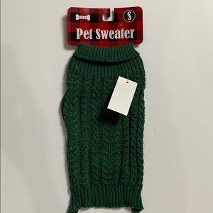 NEW Dog Pet Christmas Sweater,  Green Sz S